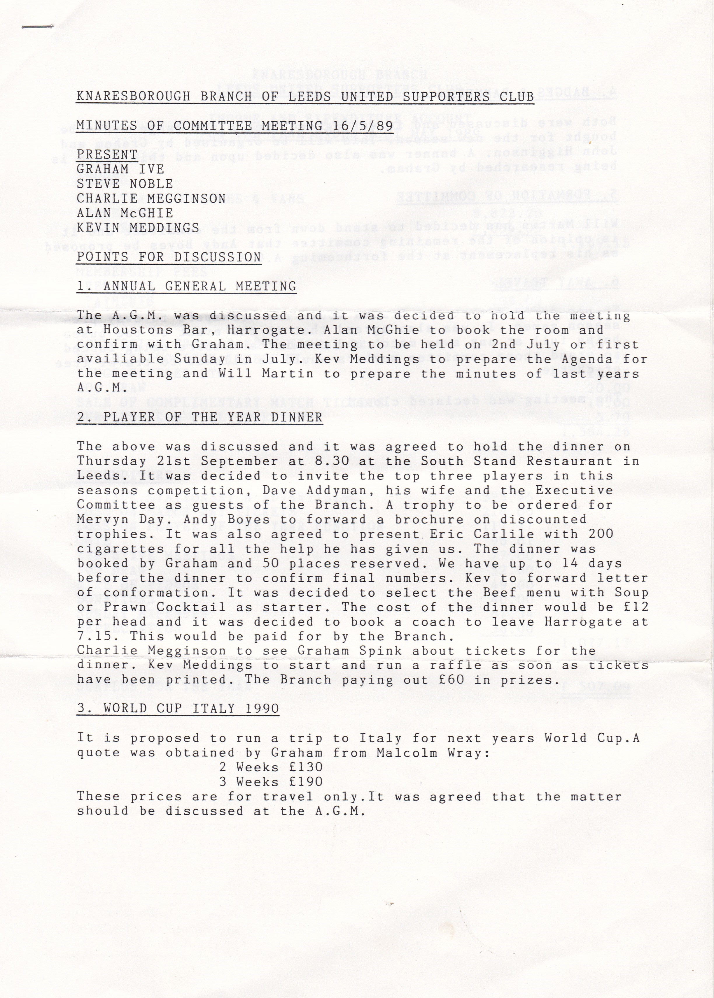 Knaresboro May 89 1